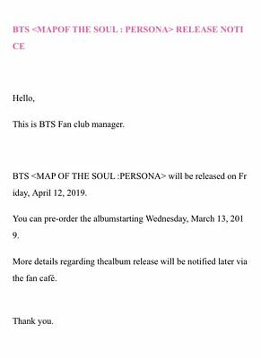 BTS-[Map Of The Soul:Persona]Random CD+Poster+Book+Card+Film+PreOrder+etc+Gift 3