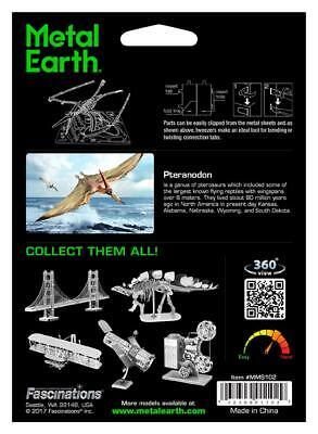 Fascinations Metal Earth 3D Laser Cut DIY Model Kit Dinosaur Pteranodon Skeleton