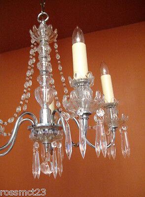 Vintage Lighting antique 1930s crystal chandelier   Rare Stunning 6