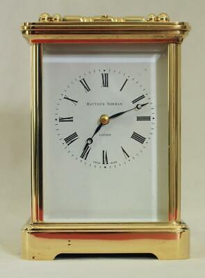 Swiss Matthew Norman 1751A Striking Repeater Grande Corniche Carriage Clock 12