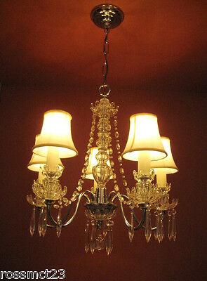 Vintage Lighting antique 1930s crystal chandelier   Rare Stunning 2
