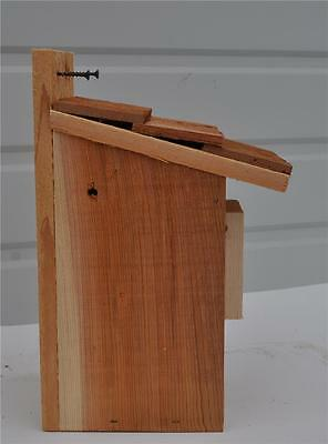 4 BLUEBIRD  BIRD HOUSES NEST BOX SHAKE ROOF WITH PETERSON OVAL OPENING FREE S//H