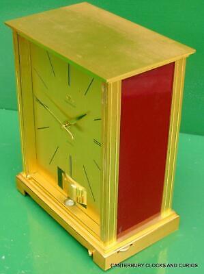 Jaeger Lecoultre Vintage Burgandy Embassy Atmos Clock Original Box Serviced 7
