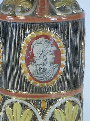 Pitcher Classical Italy Pottery Hand Made, Panted & Transfer, Bust, Figurative 6