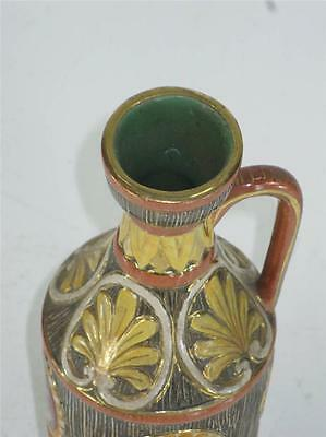 Pitcher Classical Italy Pottery Hand Made, Panted & Transfer, Bust, Figurative 12