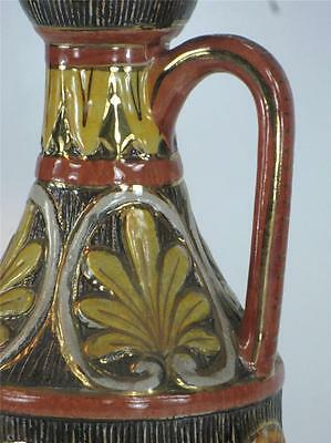 Pitcher Classical Italy Pottery Hand Made, Panted & Transfer, Bust, Figurative 5