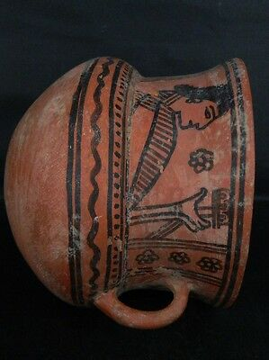 Ancient Large Size Teracotta Painted Jug Roman 100BC #PT675 8