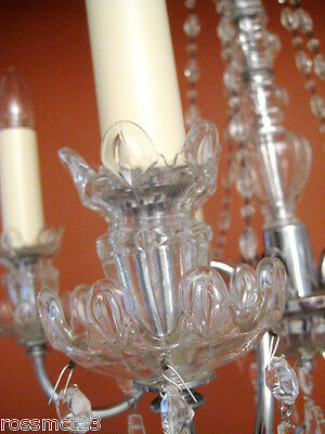 Vintage Lighting antique 1930s crystal chandelier   Rare Stunning 7