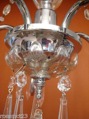 Vintage Lighting antique 1930s crystal chandelier   Rare Stunning 9