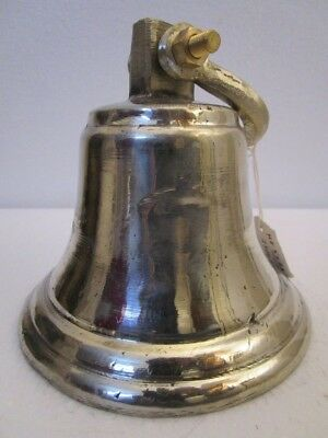 GERMAN SILVER made BELL - 2 Kilo - Great Sounding -Boat / Nautical / Maritime 2