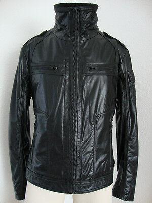 the best attitude 766a2 2cdd2 REDSKINS LEDERJACKE JACKE Biker Style Herren Schwarz Gr. 2XL ( wie Gr.L) NEU
