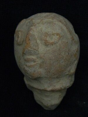 Ancient Teracotta Head Bactrian C.300 BC #TR8038 4