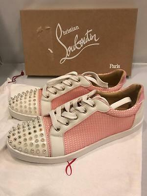 reputable site 1945a e8ad5 CHRISTIAN LOUBOUTIN GONDOLITA Spiked Studded Mesh Low Top Sneakers Shoes  $945