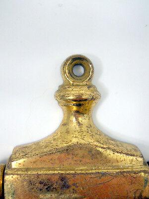 Solid Brass Door Knocker Colonial Revival Style Vintage Hardware Raised Detail 6