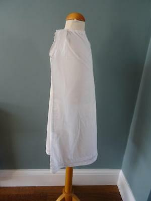 Antique Petticoat Victorian Young Girls White Cotton Embroidered Lace 2