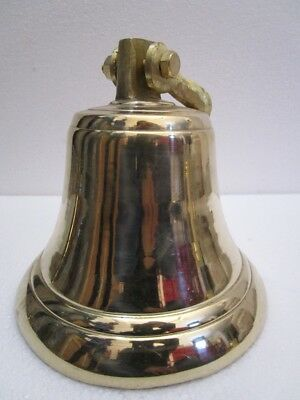Brass BELL - Brass Made - 4 Kilo - Great Sounding -Boat / Nautical / Maritime 2