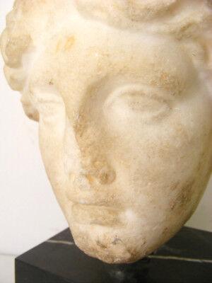 V Century B.c. Greek Marble Aphrodite Hera Head Museum Quality