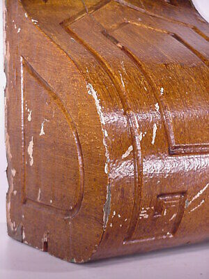 Antique Sconce Hand Carved Architectural Wood Bracket Art Deco Corbel Pediment 3