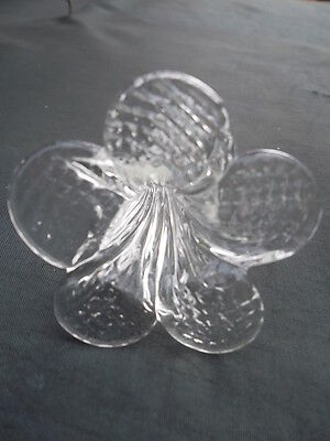 rare pretty and unusual handmade clear  glass flower chandelier drop(8488) 7