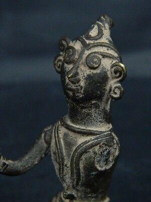Antique Brass Figure Hindu 1800 AD #BR6427 7