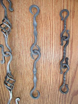 "3 1//2/"" long Wrought Iron,1//4/"" sq bar S-Hook Hanger Lighting Chain Link"