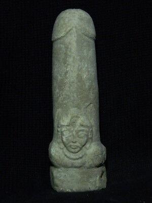 Ancient White Stone Linga/Lingum Hindu Shahi 700 AD #CCH15 2