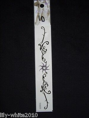 Temporary tattoos - 12 Designs - Black & Coloured - Tribal - Butterflys - Floral