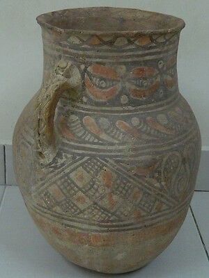 Ancient Huge Size Teracotta Painted Pot Indus Valley 1200 BC #PT15673