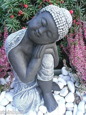 STEINFIGUR BUDDHA, FENG Shui, Gartenfigur Gartendeko Geschenk Figur ...
