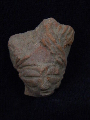 Ancient Teracotta Mother Goddess Head Indus Valley 600 BC  No Reserve #TR6055 2