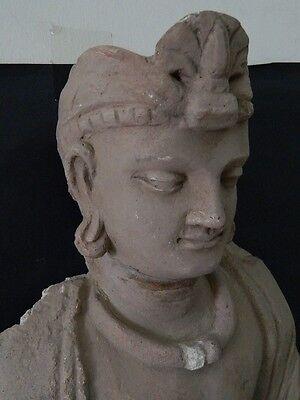 Ancient Huge Size Stucco Sitting Bodhasattva Gandhara/Gandharan 200 AD  #IK846 8