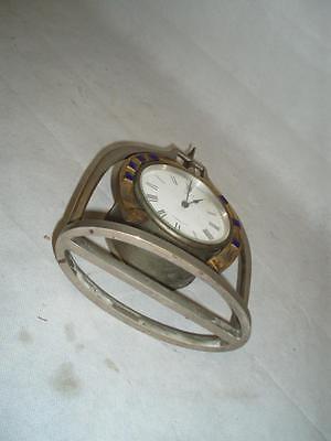 Antique Trophy Stirrup Clock. by H.GRAVES NEW St BIRMINGHAM. 9