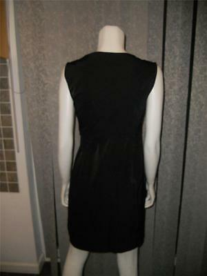 DVF Diane Von Furstenberg NEETA Black Crossover Neckline Poplin Dress $365