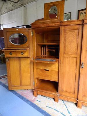 Superb Gentlemen's Satinwood Compactum/wardrobe C1920.the Best I Have Seen! 2