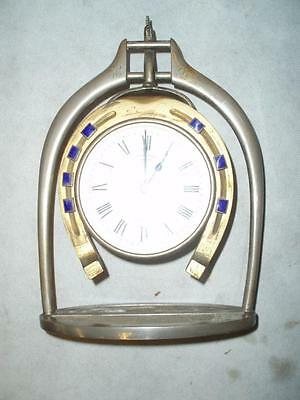Antique Trophy Stirrup Clock. by H.GRAVES NEW St BIRMINGHAM. 4