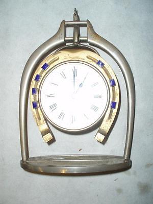 Antique Trophy Stirrup Clock. by H.GRAVES NEW St BIRMINGHAM. 4