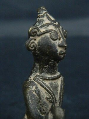 Antique Brass Figure Hindu 1800 AD No Reserve #BR6427 5