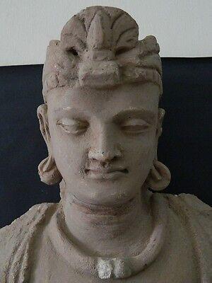 Ancient Huge Size Stucco Sitting Bodhasattva Gandhara/Gandharan 200 AD  #IK846 5