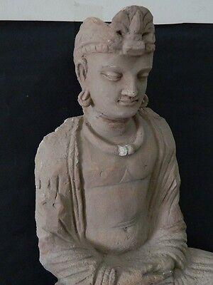 Ancient Huge Size Stucco Sitting Bodhasattva Gandhara/Gandharan 200 AD  #IK846 7
