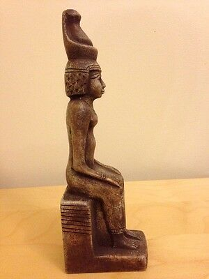 Unique Egyptian Seated Statue Of King Ramesses II , 26 X 5.5 CM 2