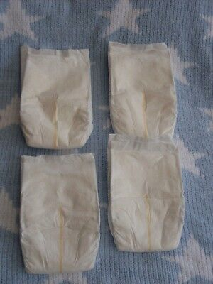"Set Of 4 Dolls Nappies - Baby Born - Annabell - Reborn - Luvabella 15 - 20"" Doll"