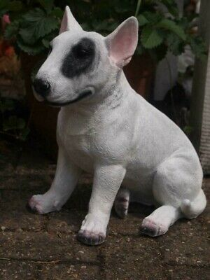 Bullterrier Dekofigur Figur Bully Pitbull Garten Deko Gartenfigur lebensecht