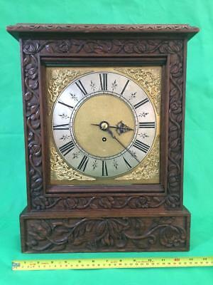 Antique 8 Day Fusee Bracket Clock With Tudor Style Case And Rococo Spandrels 9