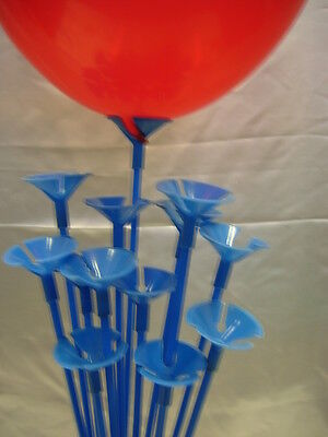 Party Balloon Sticks and Cups No Helium Choose 7 Colour & Quantity Birthday 7