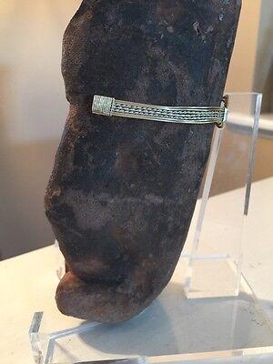 Ancient antique CHONTAL or Mezcala STONE CARVING of figure * Guerrero region 6