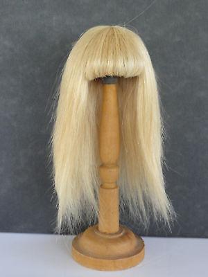 38 cm 100/% cheveux naturels PERRUQUE POUR POUPEE T12 G 30/% PROMO BRAVOT