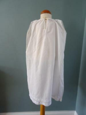 Antique Petticoat Victorian Young Girls White Cotton Embroidered Lace 3