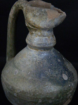 Ancient Large size Glazed Ewer Islamic 1200 AD No Reserve    #PT15167 2