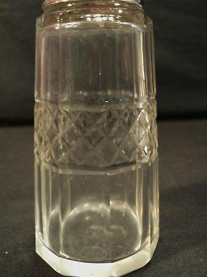 Cut Glass Sugar Shaker / Muffineer, English Sterling Silver Lid, c. 1912 4