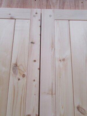 WOODEN GARAGE DOORS Frame, Ledge & Braced Mortice & Tenoned ...